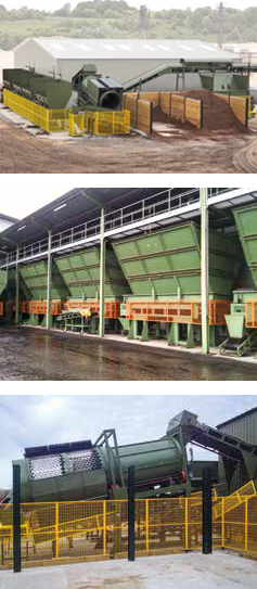 Production plant, Infeed funnels, Mixer