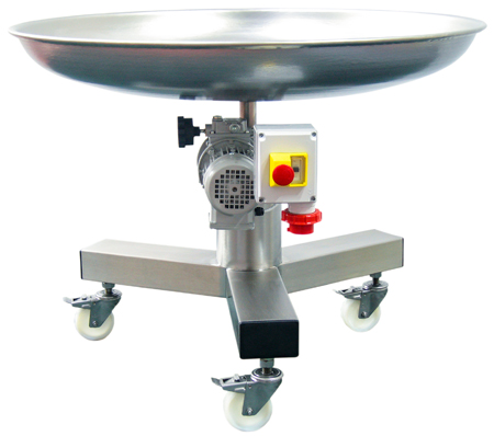 Rotary buffer table, Cup-version