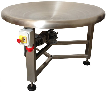 Rotary buffer table, concave, heavy-duty version