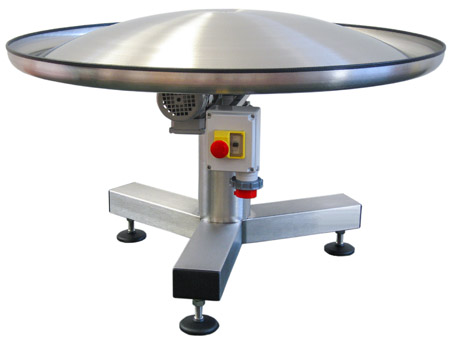 Rotary buffer table, convex