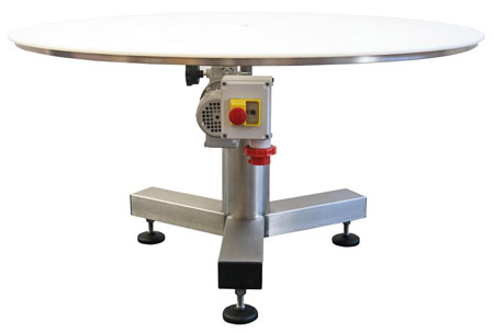 Rotary buffer table, plain, with coating